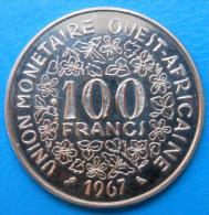Etats D'Afrique De L'ouest West African States 100 Francs 1967 Km 4 E4 ESSAI PATTERN - Monnaies