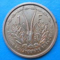 A.E.F. Afrique équatoriale Française French Equatorial Africa 1 Franc 1948 Km 6 E2 ESSAI PATTERN - Colonie
