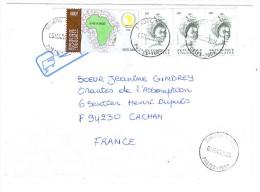 VEND TIMBRES DU TOGO N° 2846 ( 2002 ) EN BANDE DE 3 + 3165 , SUR LETTRE , COTE : ?,?,?, !!!! - Togo (1960-...)