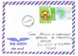 VEND TIMBRES DU TOGO N° 3160 + SERVICE 8 , SUR LETTRE , COTE : ?, !!!! (a) - Togo (1960-...)