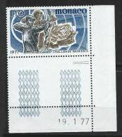 "Monaco YT 1095 "" Tir à L´arc "" 1977 Neuf** BDF Daté - Monaco"