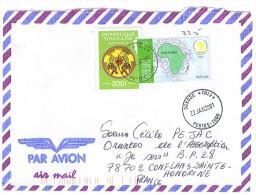 VEND TIMBRES DU TOGO N° 3160 + SERVICE 8 , SUR LETTRE , COTE : ?, !!!! (d) - Togo (1960-...)