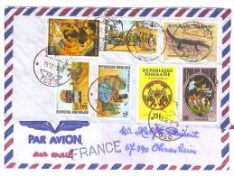 VEND TIMBRES DU TOGO N° 1478A + 1479A + 1480A + 2170 + 2227 + 2299 + SERVICE 2 , SUR LETTRE , COTE : ?, !!!! - Togo (1960-...)
