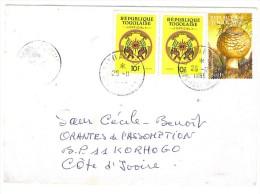 VEND TIMBRES DU TOGO SERVICE N° 1 EN PAIRE , SUR LETTRE , COTE : ?,?, !!!! - Togo (1960-...)