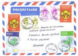VEND TIMBRES DU TOGO N° 2843 EN PAIRE+2850 EN PAIRE+3160+3162+SERVICE 5 X 2 , SUR LETTRE , COTE : ?,?,?,?,?,?, !!!! - Togo (1960-...)