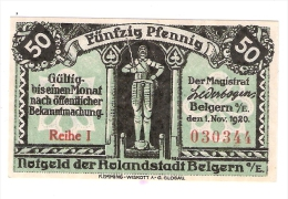 **notgeld Belgern 50 Pf  B17.1b - [11] Local Banknote Issues