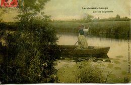 """N°3504A -cpa """"la Vie Aux Champs"""" La Fille Du Passeur - Agriculture"""