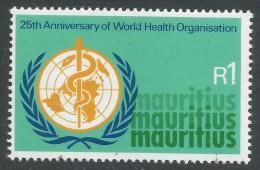 Mauritius. 1973 25th Anniversary Of WHO. 1r MNH SG 468 - Mauritius (1968-...)