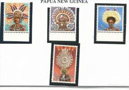 PAP001 - PAPUA NUOVA GUINEA - PETTINATURE REGIONALI N. 346-49 - CATALOGO YVERT - Papua New Guinea