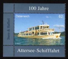 ÖSTERREICH 2013 ** 100 J. Attersee Schifffahrt - MNH - Schiffe