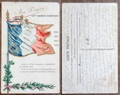 WW1 - Illustration / Carte-Postale - Drapeau Du 142° Régiment D'Infanterie - Guerre 1914-18