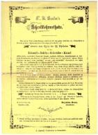 Original Werbung Von Hof- Kalligraph Gander In Mainz , 1863 , Feder , Federhalter , Kalligraphie !!! - Federn