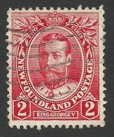 Newfoundland, 2 C. 1911, Sc # 105, Mi # 86, Used. - 1908-1947