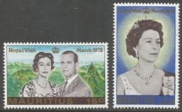 Mauritius. 1972 Royal Visit. MH Complete Set. SG 455-456 - Mauritius (1968-...)