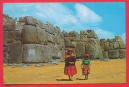 163267 / CUZCO  - RUINAS DE SACSAHUAMAN , MOTHER WITH GIRL - USED MILITARY SHIP - PERU P�rou