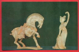 163285 / Artist China Chine Cina - HORSE AND DANCER IMITATION Ceramic Products Of The Tang Dynasty, PRODUCTION HENAN - Fine Arts