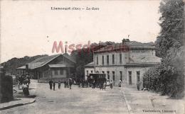 60 -LIANCOURT   - La Gare - Charrette -  2 Scans - Liancourt