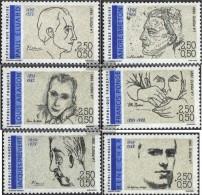 Frankreich 2819-2824 (kompl.Ausg.) Postfrisch 1991 Schriftsteller - Nuovi