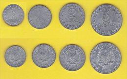Albania  1/2 + 1 + 2 + 5   Leke 1957 - Albania