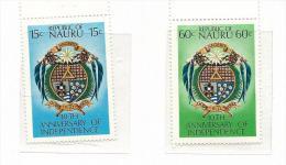 NAU009 - NAURU - 10° ANN. INDIPENDENZA N. 156-157 - CATALOGO YVERT - Nauru
