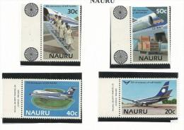 NAU010 - NAURU - 15° ANN. POSTA AEREA N. 301-304 - CATALOGO YVERT - Nauru