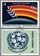 UNO - Wien 62-63 (kompl.Ausg.) Postfrisch 1986 Jahr Des Friedens - Vienna – International Centre