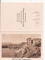 CALENDRIER PUB ETS OLIVER VIN DE MESSE ET DE DESSERT BANYULS SUR MER (PHOTO DE BENYULS) 1935 - Petit Format : 1921-40