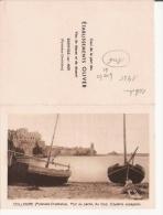 CALENDRIER PUB ETS OLIVER VINS DE MESSE ET DE DESSERT BANYULS SUR MER  (PHOTO DE COLLIOURE)  1935 - Calendriers