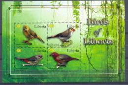 LIBERIA * SERIE / SHEET 4v 2010 * BIRDS OF LIBERIA * BIRD OISEAU * MNH - Liberia