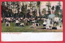 ALLEMAGNE  //  Gruss Aus Dem Kaisermanover  --  Kavalerie Bivouac  --  Cachet Sarregueminnes - Manoeuvres