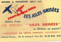 75008 - 75 - PARIS - BUVARD LES AILES BRISEES - AVION - AVIATION- 55 AV. GEOEGES V - Löschblätter, Heftumschläge