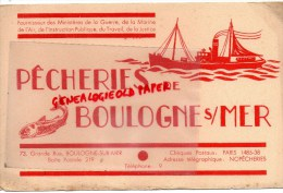 62 - BOULOGNE SUR MER - BUVARD PECHEURS  PECHE - 73 GRANDE RUE - MARINE - Buvards, Protège-cahiers Illustrés