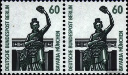 Berlin (West) 795A Titoli Orizzontale Coppia MNH 1987 Sehenswïürdigkeiten - Nuevos