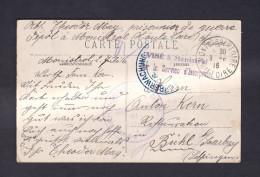 Monistrol Sur Loire Correspondance De Prisonnier De Guerre  CPA Chateau De Flachat  (Guerre 14-18 Cachet) - Monistrol Sur Loire