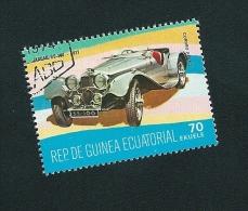 N° PA 89 B  JAGUAR SS 180 1937  Oblitéré Guinée Equatoriale 70 Ekuele 1977 - Guinée Equatoriale