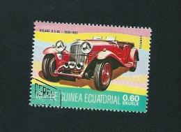 N° 105M DELAGE D8/85 1934/1935 Oblitéré Guinéa Ecuatorial 0.60  Ekuele Timbre Guinée Equatoriale 1977 - Guinée Equatoriale