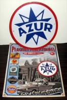 """Plaque Métal """"azur"""" - - Plaques Publicitaires"""