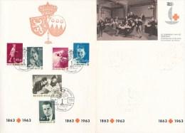 RC0364 - FD FOLDER RED CROSS 1963 - BELGIUM ROYALTY - Red Cross