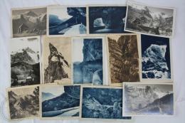 12 Old France Postcards - La Grave, Meije, Les Petits Goulets... - Otros Municipios