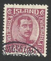 Iceland, 40 A. 1920, Sc # 123, Mi # 94, Used. - Gebruikt