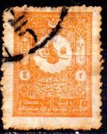 TURKEY 1901 Turkish Inscription -  2pi. - Orange  FU SOME RUST CHEAP PRICE - Used Stamps