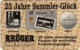 Allemagne : Krüger 25 Jahre Sammler-Glück : Timbre-poste / Carte De Crédit / Pièce 1992 - Timbres & Monnaies