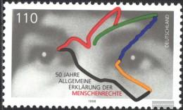 BRD (BR.Deutschland) 2026 (kompl.Ausg.) Postfrisch 1998 Menschenrechte - [7] Federal Republic