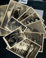 FRANCE LOT DE 8 PHOTOS + 2 PETITES  DE PRISONNIERS DE GUERRE AU STALAG 4 F  LORS DU NOEL DE 1941 A  VOIR - Guerre 1939-45
