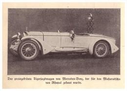Original Zeitungsausschnitt - 1928 - Mercedes Benz , Tigerjagd - Wagen , Tiger , Maharadscha , Automobil , Oldtimer !!! - Cars