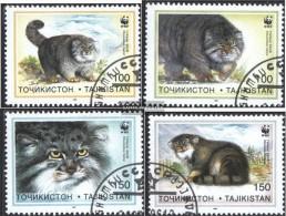 Tadschikistan 94-97 (kompl.Ausg.) Gestempelt 1996 Naturschutz: Manul - Tadschikistan