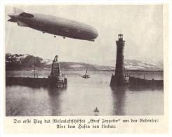 Original Zeitungsausschnitt - 1928 - Der Erste Flug Des Zeppelin , Hafen Von Lindau , Flug Um Den Bodensee , Luftschiff - Fliegerei