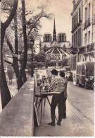 Francia--Paris--1966--Coin Pittoresque De L'Ille Saint Louis--l'Abside De La Catedral De Notre Dame--Ballon--Paris-R.Duc - Notre Dame De Paris