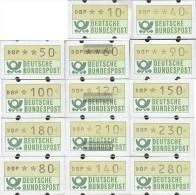 BRD (BR.Deutschland) ATM1 Teorema 1 (10,40,50,60, 80,90,100,120,140,150,180,210,230,280) MNH 1981 Automatenmarken - Automaten