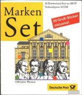 BRD (BR.Deutschland) MH38 (completa Edizione) MNH 1999 1100 Anni Weimar - [7] West-Duitsland